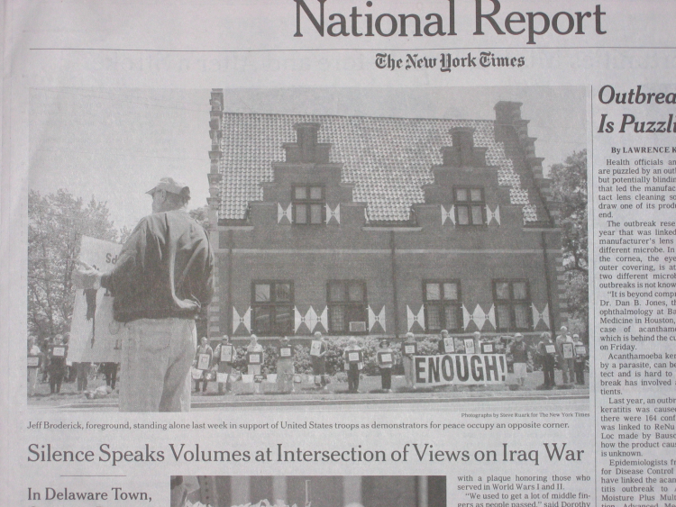 Photo and caption from top left of page A9, Monday, 28 May 2007 New York Times