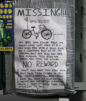 poster aimed at bike thief